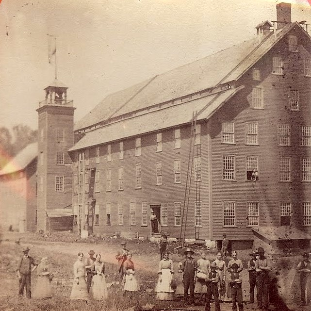 The five-story woolen mill in Greenbank's Hollow