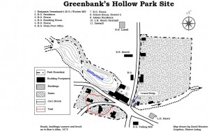 Map of Greenbank's historic park site