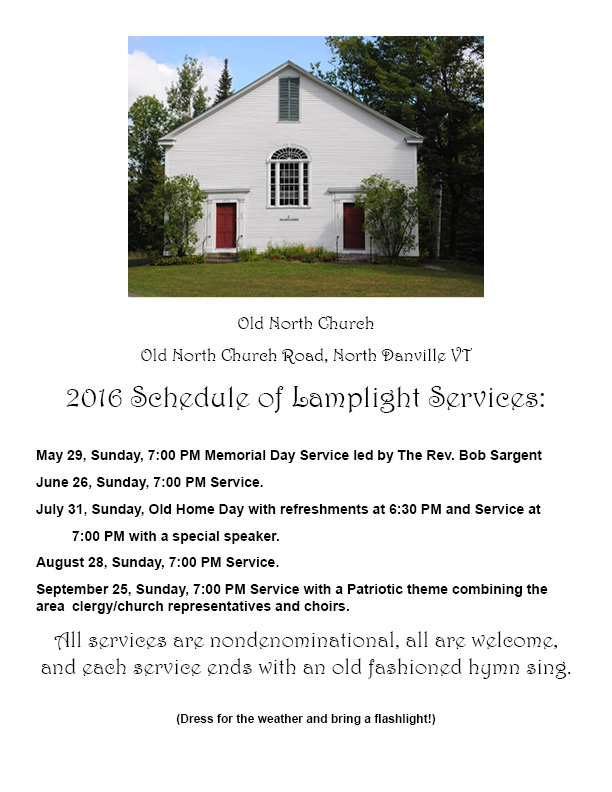 Old North Church schedule 3