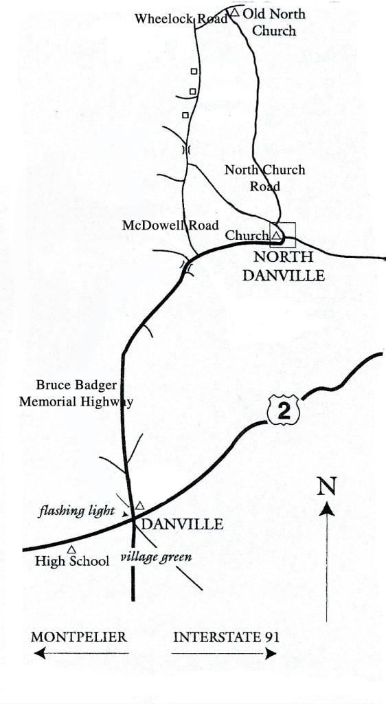 From Route 2, follow this map.