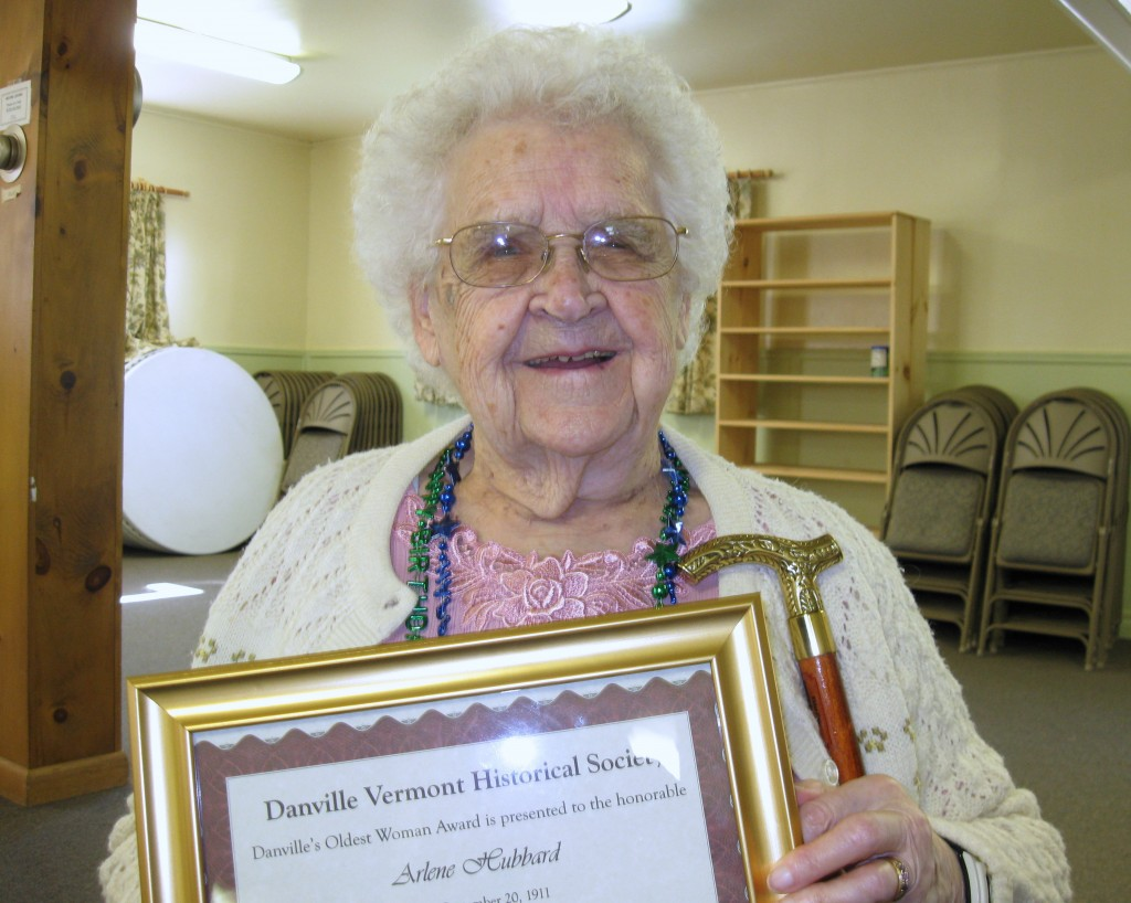 Arlene Hubbard is Danville's reigning oldest woman at 101 years old.