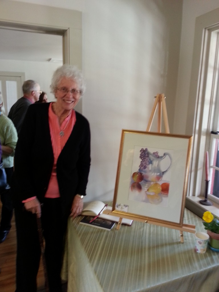 Jan Houston, who along with Barbara Matsinger founded the Monday Painters, was the honored artist at the event.