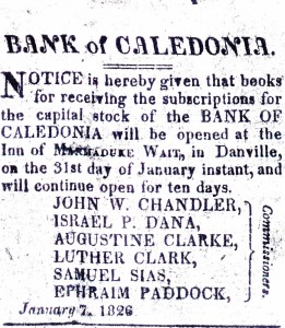 Advertisement for the sale of capital stock.  North Star January 24, 1886