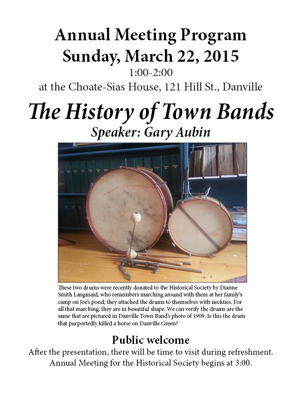 This should be an interesting program--Gary Aubin is an expert and wonderful speaker. Join us.