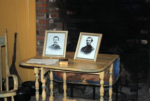 Photos of Abel Morrill's (David Book) two sons, who were both killed in Civil War in 1864.
