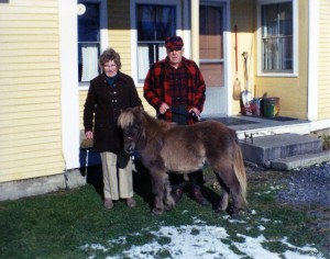 "Somehow Henry and Toppy ended up housing this little pony. ""He belonged to the vet but nearly everybody used him,"" said Toppy. Photo courtesy of Toppy Sherry"
